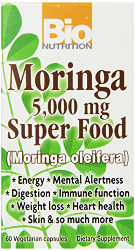 Bio Nutrition Moringa Super Food Vegi-Caps 60 Count 5000 mg