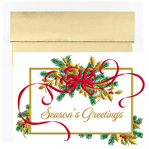 Masterpiece Studios 916800 Holiday Swag 18 Cards/18 Foil Lined Envelopes, 7.875 x 5.625