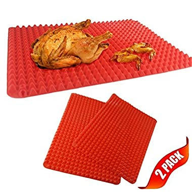Pack of 2 Silicone Non-stick Healthy Cooking Baking Mat