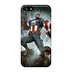NSERz3803DPutT Case Cover Captain America I4 Iphone 5/5s Protective Case