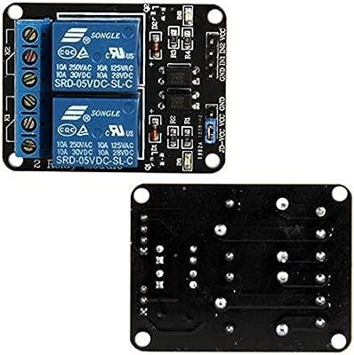 Ecloud Shop 2 Canal Modulo Rele Para Arduino Arm Pic Avr Dsp Plc Electronic 5v