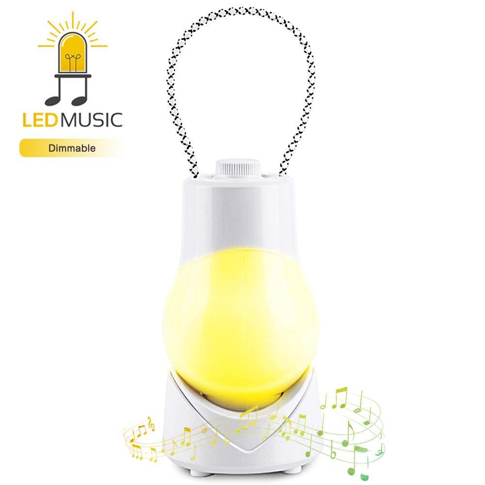 Visionreast オルゴールポータブルナイトランプ 子供用 ベビーナイトライト ベッドサイド照明 コード付き 授乳用 調光機能付き タイマー設定   B00FSUHZ00