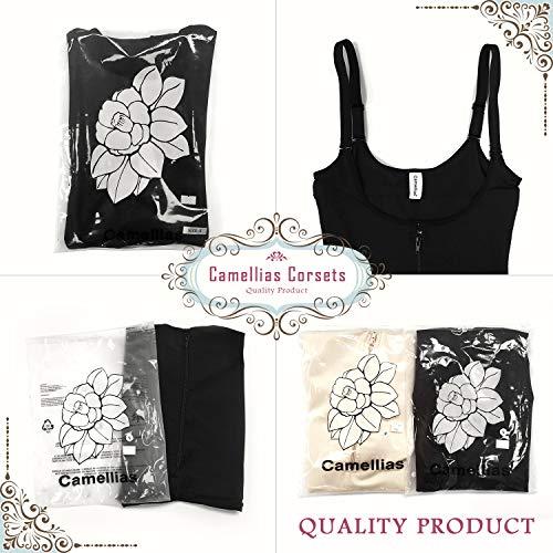 cd74389de8 SHAPERX Camellias Womens Seamless Firm Control Shapewear Zipper Closure Open  Bust Bodysuit Body Shaper Slimmer Shaperwear