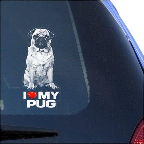 pug window decal - 1