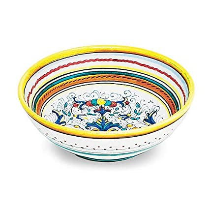Arte Ditalia Imports Hand Painted Alcantara Large Serving Bowl From