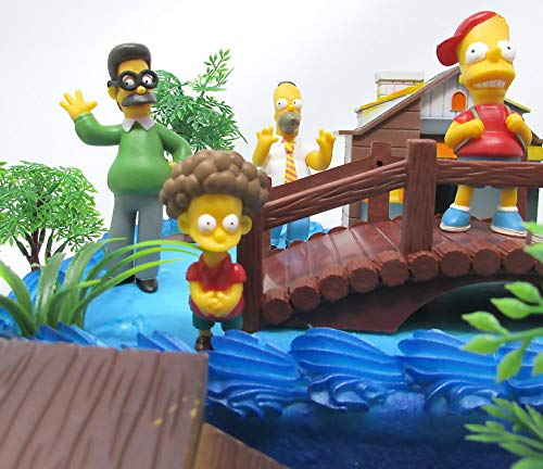 Excellent The Simpsons Birthday Cake Topper Set Featuring Bart Simpson Personalised Birthday Cards Veneteletsinfo