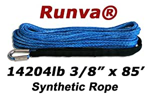 "Runva Winch Synthetic Rope 3/8"" x 85' 14204lb"