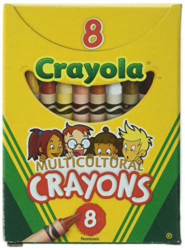 (Crayola Multicultural Crayons -24 Count (Set of 3 - 8 Packs))
