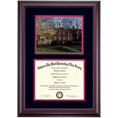 - Campus Linens Rutgers Scarlet Knights Diploma Frame Black Scarlet Matting Photograph
