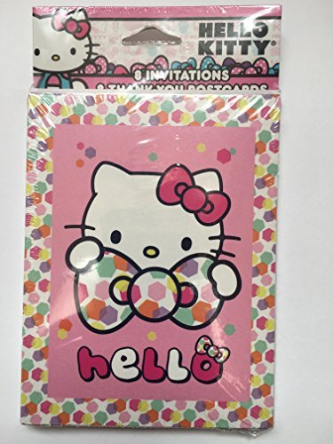 - Hello Kitty Party Invitations w/ Envelopes Thank You Postcards and Checklist