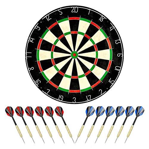 linkvisions Sisal/Bristle Dartboard with Staple-Free Bullseye 17.8