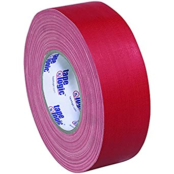 "Tape Logic T98718R3PK Gaffers Tape, 11 mil Thick, 60 yds Length x 2"" Width, Red (Case of 3)"