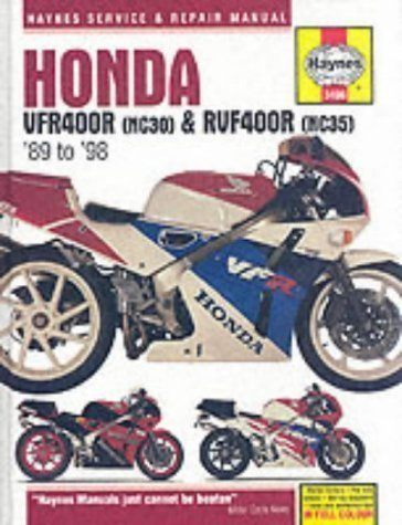 Honda VFR400 and RVF400 V-fours, 1989-98 (Haynes Service and Repair Manuals) by Coombs, Matthew published by Haynes Manuals Inc (1998)