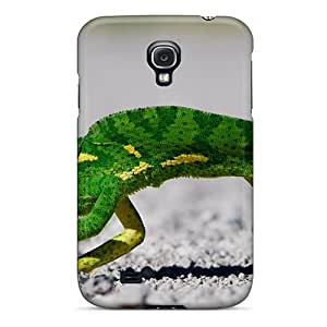 JackieAchar Scratch-free Phone Case For Galaxy S4- Retail Packaging - Creeping Chameleon