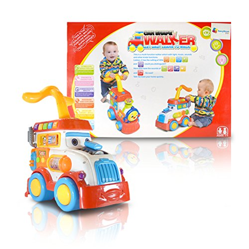 SAVVYSTREET KIDS – BABY RACE CAR, PUSH AND PULL, SIT TO STAND LEARNING WALKER WITH FUN INTERACTIVE FEATURES AND ()