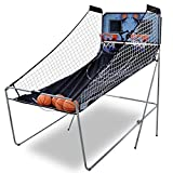 HOMGARDEN Indoor Basketball Arcade Game Double Electronic Hoops Shot for 2 Players W/ 4 Balls for Kids and Adults