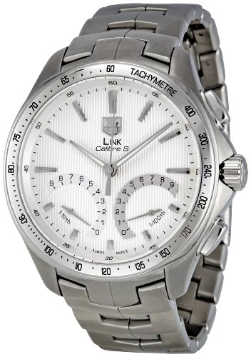 Tag Heuer Men's CAT7011.BA0952 Link Calibre S Silver Dial Dress Watch