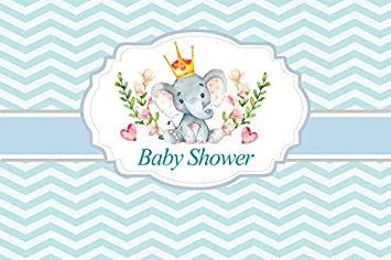 Amazon Com Baocicco 5x3ft Vinyl Baby Shower Backdrop Wave Stripes Photography Background Cute Elephant Boy Girl New Born Baby Welcome Party Indoor Room Decors Wallpaper Baby Portraits Photo Studio Camera