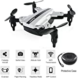 BTG JJRC H54W E-Fly Foldable Mini Pocket Quadcopter - WIFI FPV Selfie Drone with HD Camera, Sound Mode, APP Control, Altitude Hold, Headless Mode, One Key Return, G-sensor (H54W Drone (Silver))
