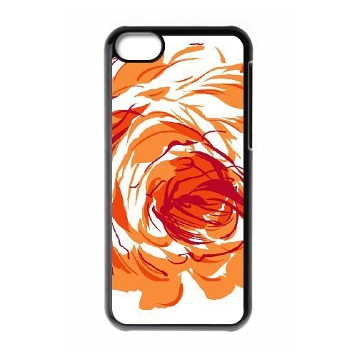 FDXGW554 iPhone 5c Cell Phone Case-black_Retro Flower (15)