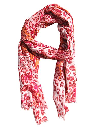 SouvNear Leopard Print Scarf / Shawl / Wrap / Stole for Women Girls - Infinity Soft Pink-Peach Fashion Scarves for Evening Dresses / Beach Parties