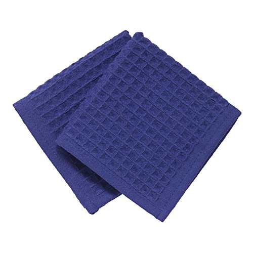 Ritz TechStyle Microfiber Waffle Dish Cloths (Set of 2), Cobalt (Blue Cobalt Dishes compare prices)
