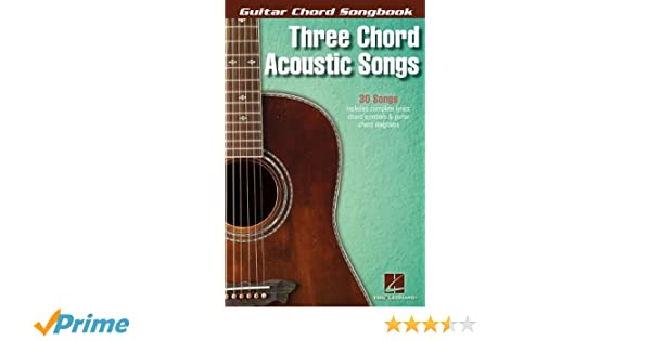Amazon.com: Three Chord Acoustic Songs (Guitar Chord Songbooks ...
