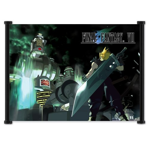 Final Fantasy VII Game Cloud Fabric Wall Scroll Poster
