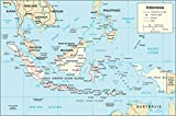Map Poster - Indonesia Transportation Map 9'' x 13''