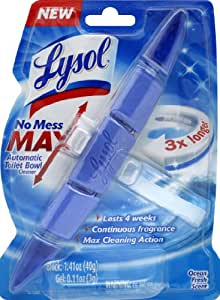 Lysol No Mess Max Automatic Toilet Bowl Cleaner, Ocean Scent (Pack of 6)