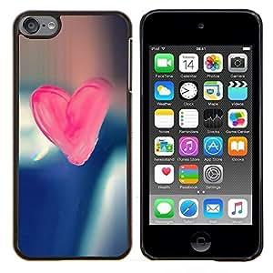 "Be-Star Único Patrón Plástico Duro Fundas Cover Cubre Hard Case Cover Para iPod Touch 6 ( Corazón del rosa del caramelo"" )"
