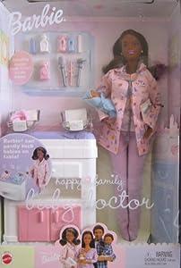 Amazon Com Barbie Happy Family Baby Doctor Aa Doll W 2