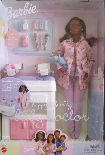 Barbie Happy Family Baby Doctor AA Doll w 2 Baby Dolls (2002)