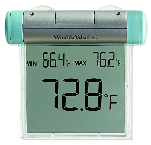 Digital Window Thermometer - Easy-To-Read Weather-Resistant Outdoor Digital Window Thermometer