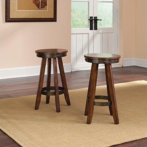 sauder-415515-washington-cherry-finish-carson-forge-stool