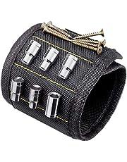 Timesetl Magnetische armband, handwerker, instelbare magneten, voor holding gereedschappen, spijkers, schroeven, gaten en kleine gereedschappen