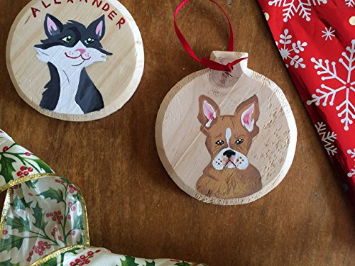 Customized Pet Ornament ~ Hand Painted! Celebrate your pet for the holidays, or cherish the memory of a loved pet