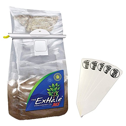 Exhale 365 - Self-Activated CO2 Bag Homegrown for Grow Rooms & Tents + Stakes by The Hydroponic City