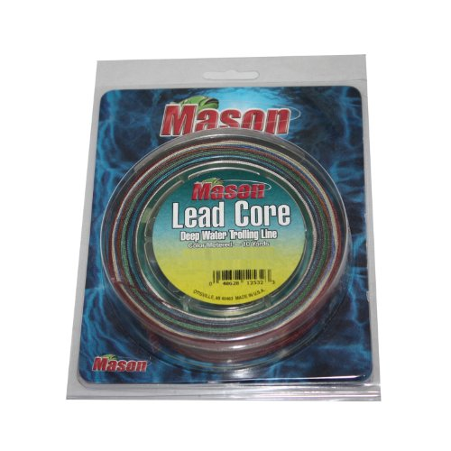 Mason Lead Core Trolling Braided Fishing Line, 27-Pound