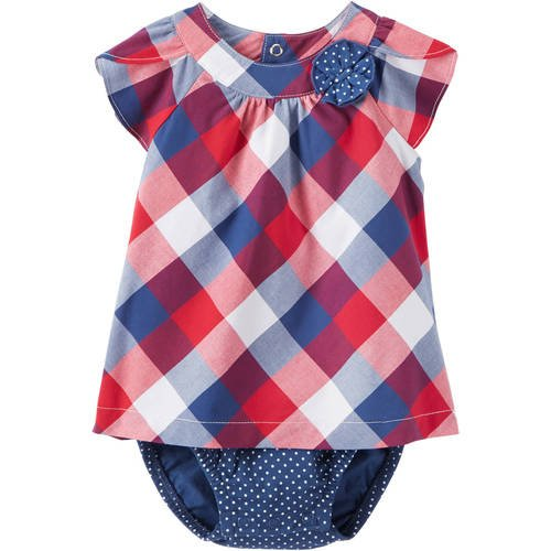 Baby Girls Child of Mine By Carter's Buffalo Checked Dress (6-9 Months) Checked Baby Dress