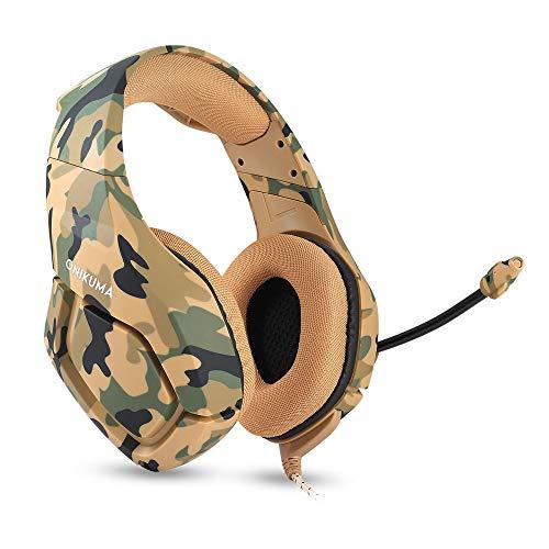 Sodoop 3.5mm Gaming Het Mic, Camouflage Headphones for Pc Ma