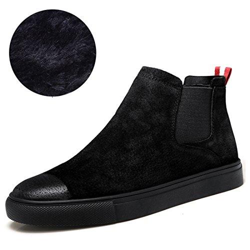 Miyoopark UK-XCR6062B, Herren Stiefel, Schwarz - Black/fur-Black Sole - Größe: 38