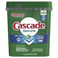 Cascade complete Actionpacs Detergente para lavavajillas, aroma fresco, 78 unidades