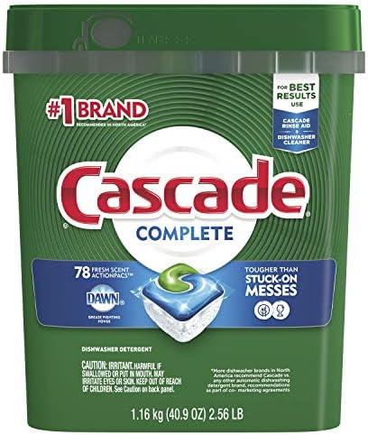 Complete ActionPacs Dishwasher Detergent, Fresh Scent