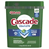 : Cascade Complete ActionPacs Dishwasher Detergent, Fresh Scent, 78 Count