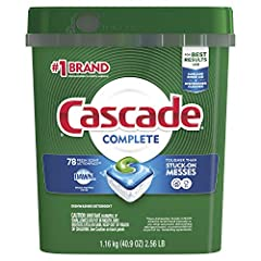 Cascade Complete ActionPacs power away stuck-on messes, which means you can skip the prewash and still get a complete clean. That's because every pac is formulated with the grease-fighting power of Dawn. Trust your dishes to Cascade Complete ...