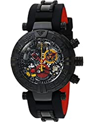 Invicta Men's 'Disney Limited Edition' Swiss Quartz Stainless Steel and Silicone Casual Watch, Color:Black (Model...