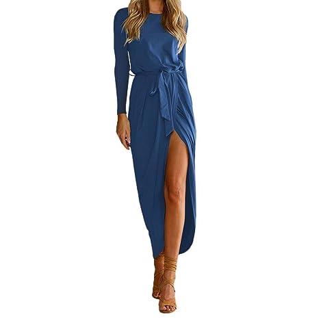 Vestidos Larga Mujer, Vestidos Fiesta Mujer, 👗Vestido Largo Maxi Mujer Boho, Vestidos de Fiesta Fiesta de la Tarde para Mujer, Vestido de Tirantes Mujer ...