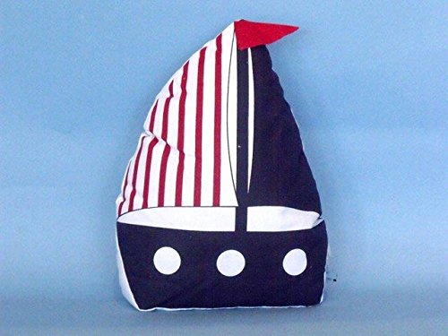 Handcrafted Decor Y-60777-Blue Patriotic Blue with Red Stripe Sailboat Door Stopper44; 10 in. (Stopper Sailboat Door)