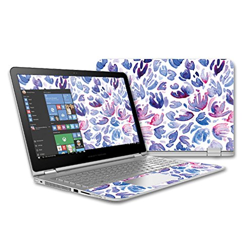 MightySkins Skin for HP Envy x360 15 (2015) Laptop – Blue Petals | Protective, Durable, and Unique Vinyl Decal wrap Cover | Easy to Apply, Remove, and Change Styles | Made in The USA by MightySkins (Image #3)